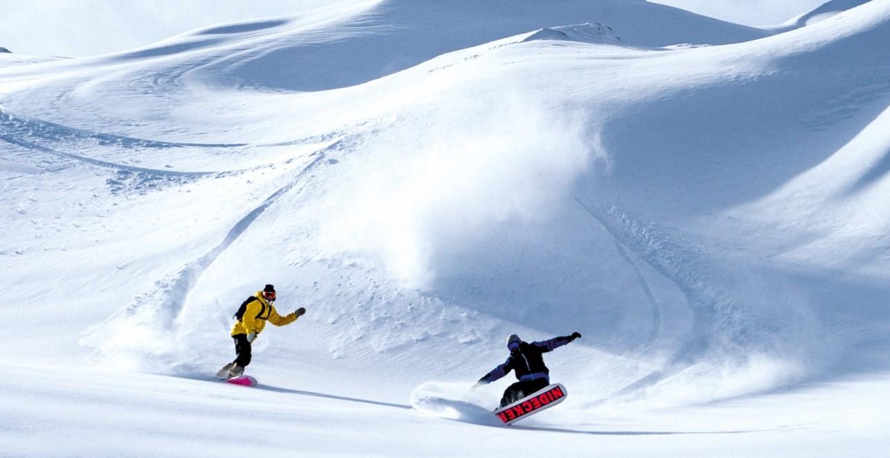 Snowboard a Snowboardbinding