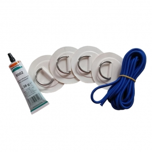 Retrofit Luggage Net D-ring Set with Glue and Rubber band