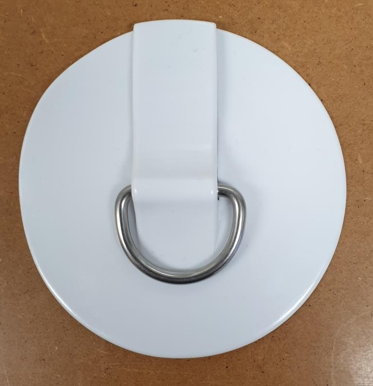 Leash Ring Towing Ring D-Ring Niro with pad to glue on