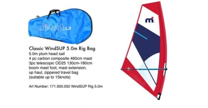 Mistral Windsup Rig cpl 5,0 m²