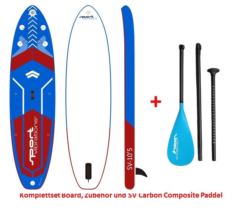 Sport Vibrations 10,5 Allround Touring SUP Board inflatable incl Carbon Composite Paddle