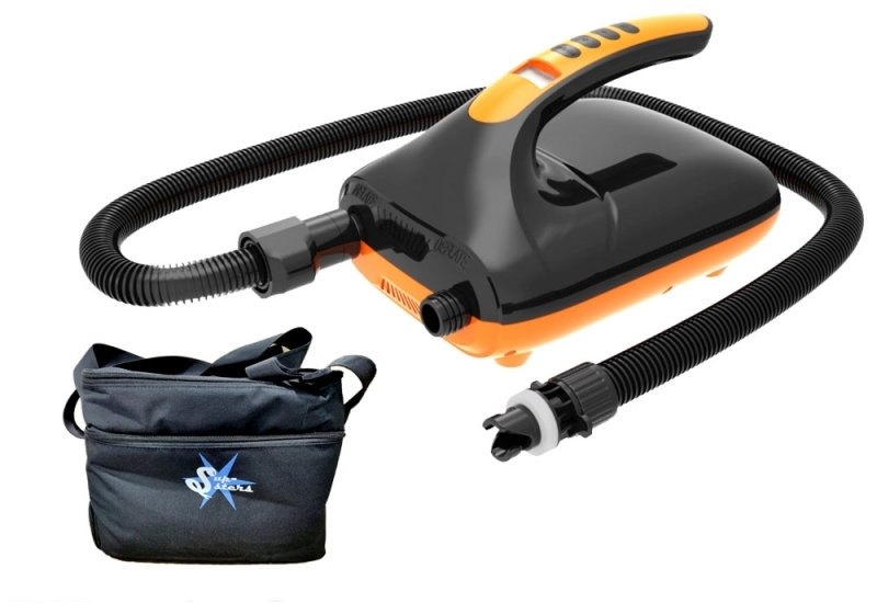 Supsters 2-stage high quality turbine-airpump up to 20 PSI including bag and as option battery