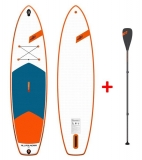 JP AllroundAir SL 10,6 SUP inflatable with JP Glass PE SUP Paddle 3pcs