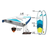 JP AllroundAir LE 10,6 SUP inflatable with JP Glass PE SUP Paddle 3pcs