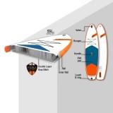 JP AllroundAir SL 10,6 SUP inflatable with JP Glass PE SUP Paddle 3pcs
