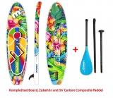 Mistral Flamenco 10''5' 320cm SUP Board inflatableCOMPLETE SET with SV Carbonpaddel 3pcs