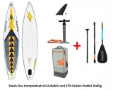 Naish One AIR 12,6 x 31 SUP COMPLETE SET with 80% Carbon Paddel