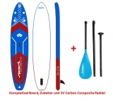 Sport Vibrations 12,6 Allround Touring SUP Board inflatable incl Carbon Composite Paddle