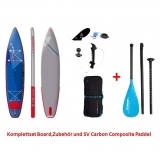 Starboard 12.6 Touring DELUXE SC SUP board inflatable incl Carbon Composite Paddle