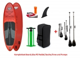 Storm Freeride red 10,4 x 32 SUP inflatable incl Glass PE Paddle