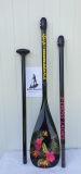 Supsters X-Cross 50% Carbon Flowers SUP Paddle 3pcs